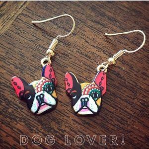 New!  Dog Lover Dangle Earrings